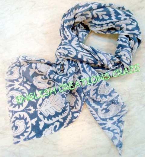 Silk wool printed scarves  - Silk wool printed scarves