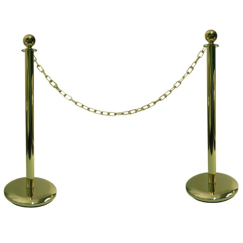 Kit 2 poteaux à chaine avec chaine - Aménagement intérieur