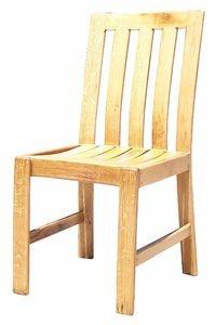Vertical Back Dining room Chair - French Oak High Vertical Back Diningroom Chair