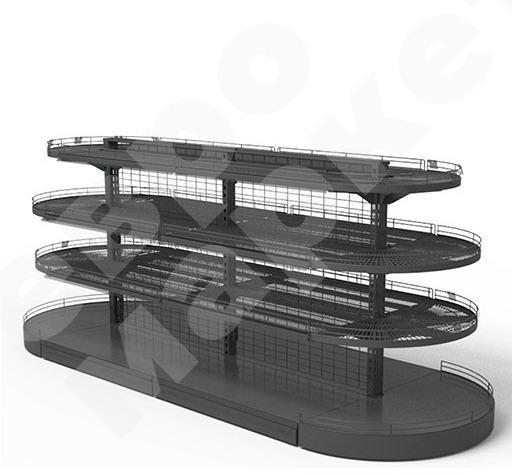 SHOP SHELVING - Screen-type shelf stand