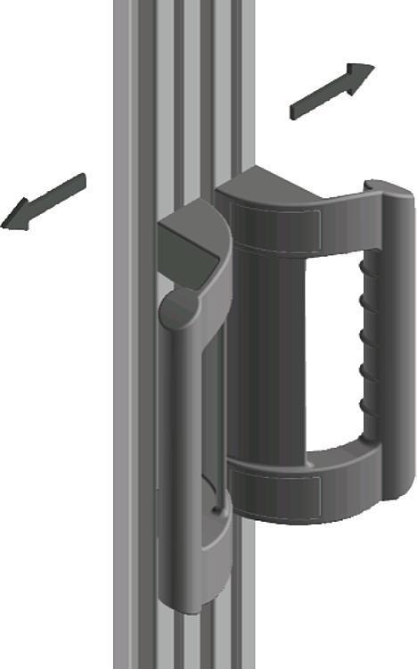 Poignée de manutention coudée - Poignées de manutention, poignées tubulaires et poignées alcôve