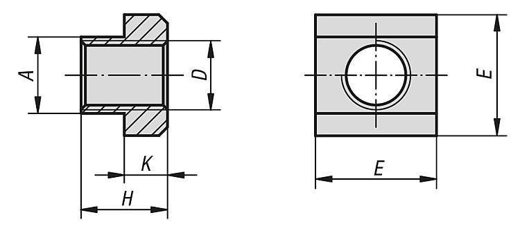 Tasseau pour rainures en T DIN 508 extension de gamme - Accessoires