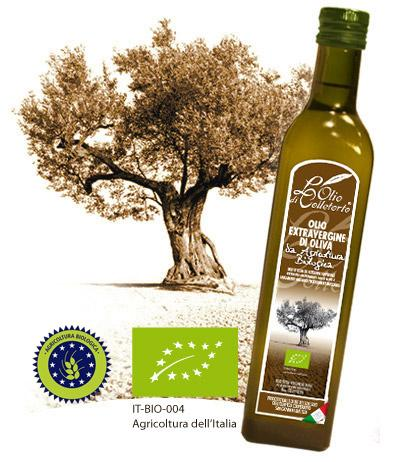 Olio extravergine di oliva Biologico - È un olio adatto per le salse saporite, le carni crude ed alcune carni alla brac