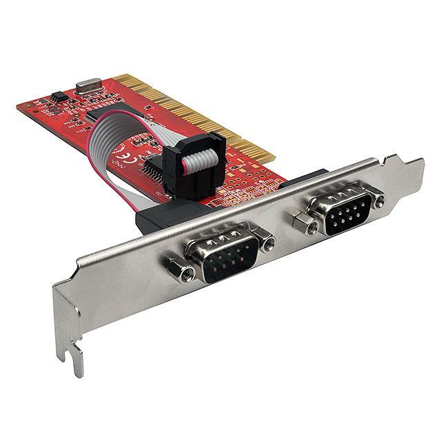 2-PORT DB9 (RS-232) SERIAL PCI E - Tripp Lite PCI-D9-02