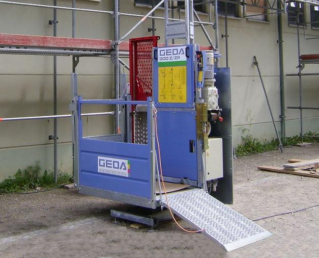 GEDA 300 Z/ZP - GEDA 300 Z/ZP - Transportbühnen für Personen und Material