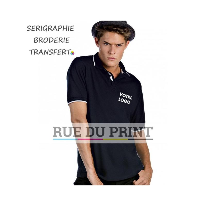 Chemise polo Tipped - Manches courtes