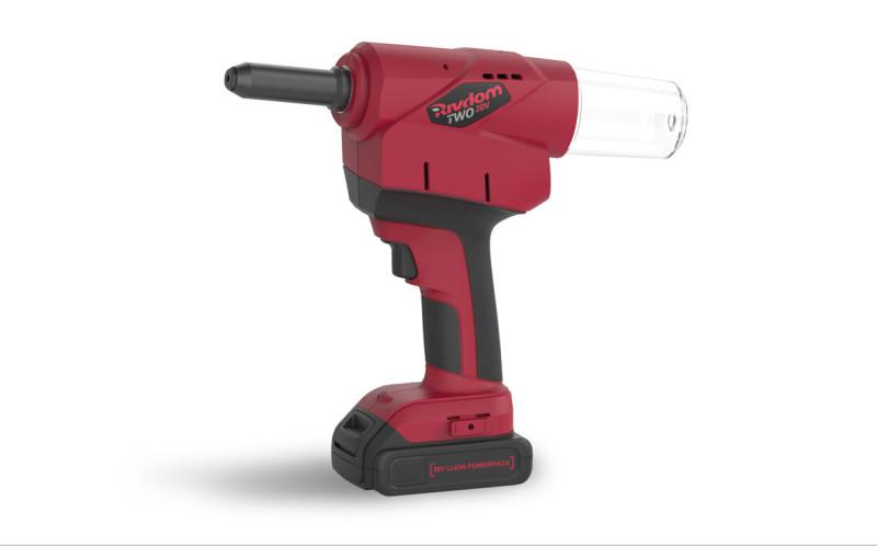 Battery Riveter RivdomTWO 20V - Battery-powered riveter for blind rivets up to 6,4 mm diameter - all materials