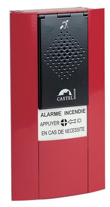 BGPH DM BOUCLE AUDITIVE - Interphonie de sécurité (CASI) - Boîtier d'alarme phonique design avec membrane et boucle auditive