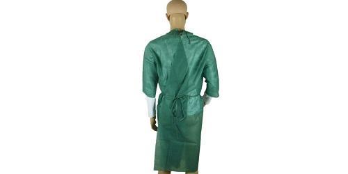 Vestido quirúrgico verde oscuro -