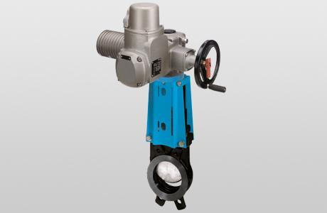 Knife-gate valve WGE-EL. - onedirectional - electric actuator - GG-25