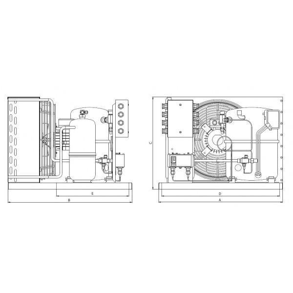 Verflüssigungssatz JDK, Danfoss SC15DLX, R404a - Kälte Verflüssigungssätze
