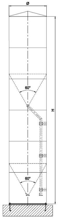 Double chamber silo - achbergsilo