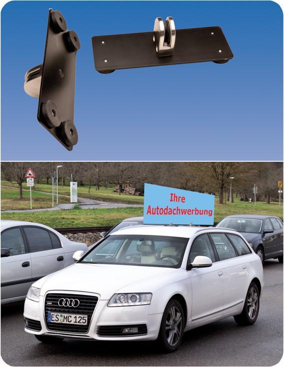 Eleganter Werbe-Autodachträger - null