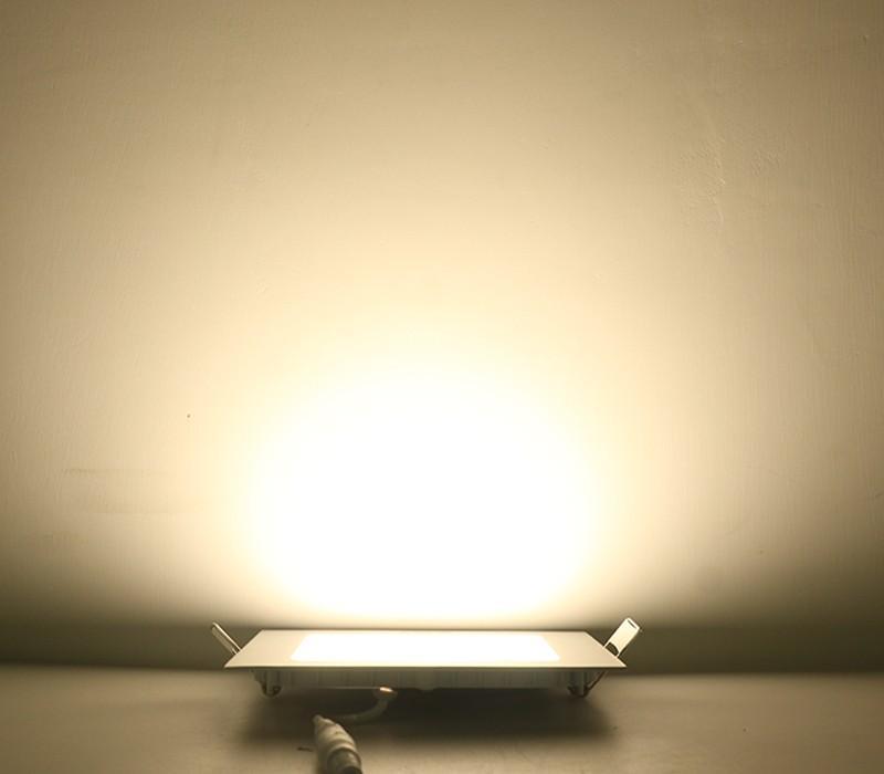Dalle LED encastrable carrée extra-plate - 18W, 4000K, 225 mm