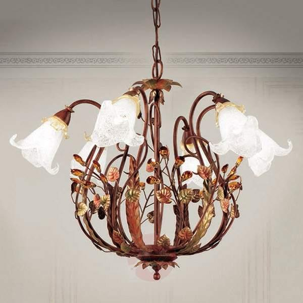 Florentine style hanging light Zarah, six-bulb - Pendant Lighting