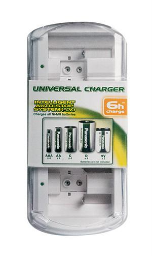 Caricabatterie universale ad alta capacità - BQ-CC15E/1B | Per stilo, ministilo, mezza torcia, torcia, transistor 9V