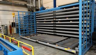 Platenstelling horizontaal - Opslag metalen platen