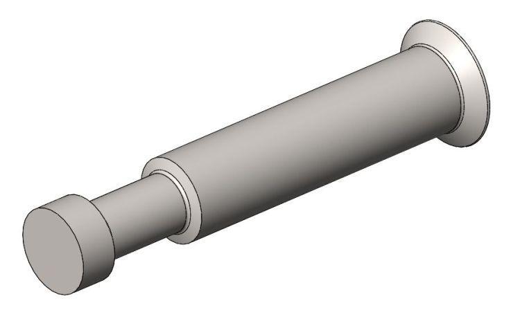 Endbolzen AZ1 f. 16mm Platte - Stahl gepresst - hell verzink - Bolzen AZ 1 (9 mm)