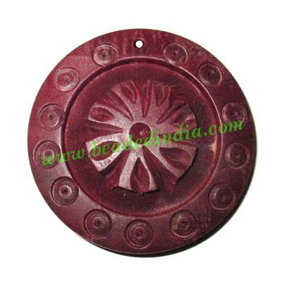 Handmade wooden fancy pendants, size : 46x8mm - Handmade wooden fancy pendants, size : 46x8mm