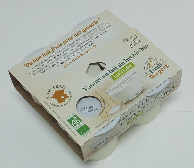 YAOURT AU LAIT DE BREBIS BIO NATURE (PACK 4 X 100GRS) - Produits laitiers