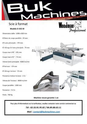 Scie à format Woodman - modèle D-355-M