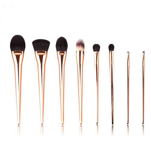 Professional Taklon Hair Gold Makeup Brushes