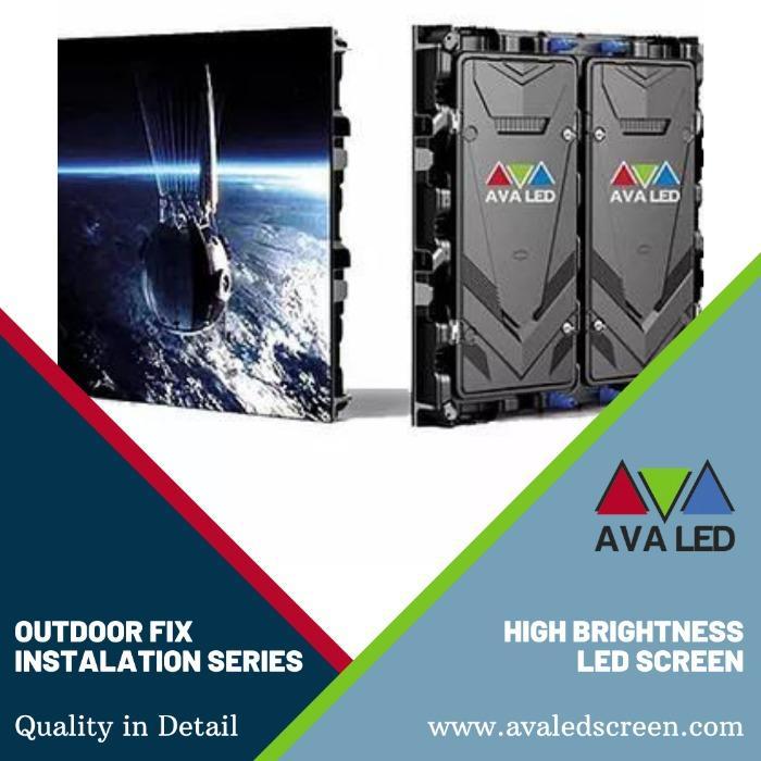 Telão LED impermeável para exteriores série TN-OF - Totem e Pôster AVA Led Screen