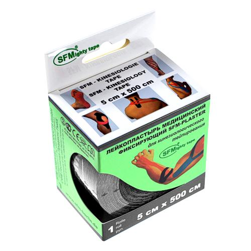 SFMighty Tape in Papierbox 5cmx5m Kinesiologie schwarz (1) - null