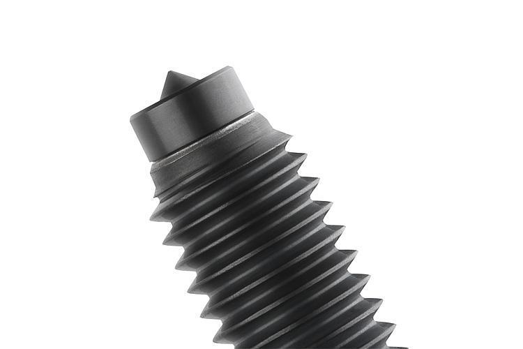 Vis de pression à pointe - Vis à bille orientable et inserts à picots