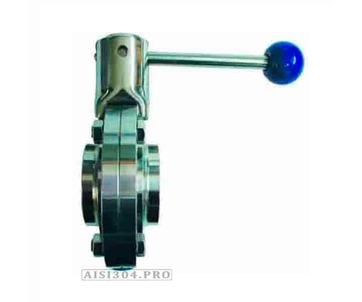 Затвор дисковый сварка-сварка нержавеющий DIN Dn 50 AISI 304 - TRiNOX