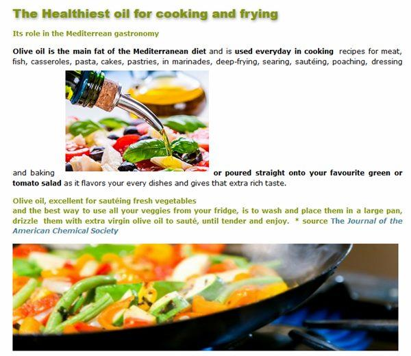 Cooking with Olive Oil FAG  - The Healthiest oil for cooking and frying