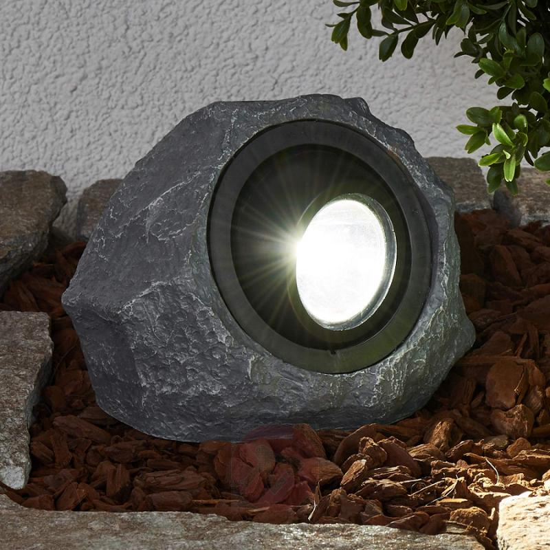 Luminous solar stone Lior with LED - outdoor-led-lights