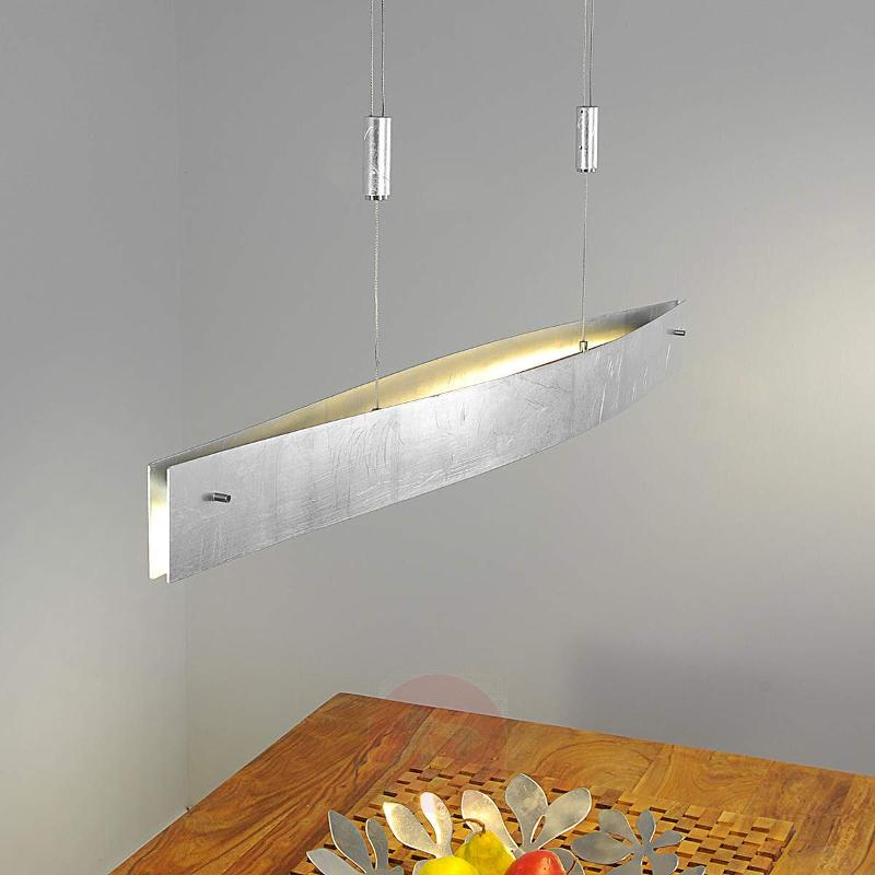 Silver Malu LED pendant lamp, height-adjustable - Pendant Lighting