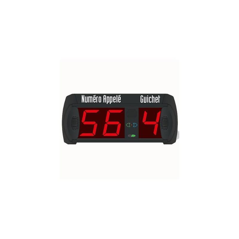 Afficheur file d'attente - Numéro appelé 2 chiffres +... - Aménagement intérieur