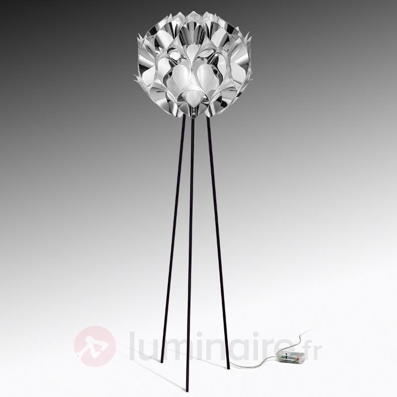 Lampadaire de designer Flora, argenté - Lampadaires design