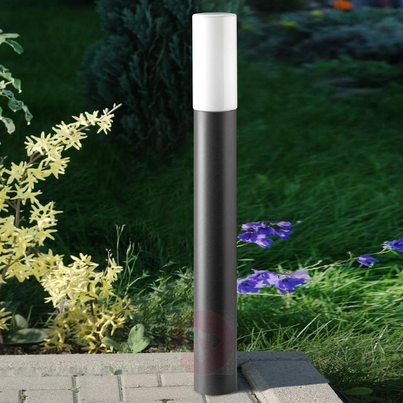 Attractive path light Gray with opal glass - Path and Bollard Lights