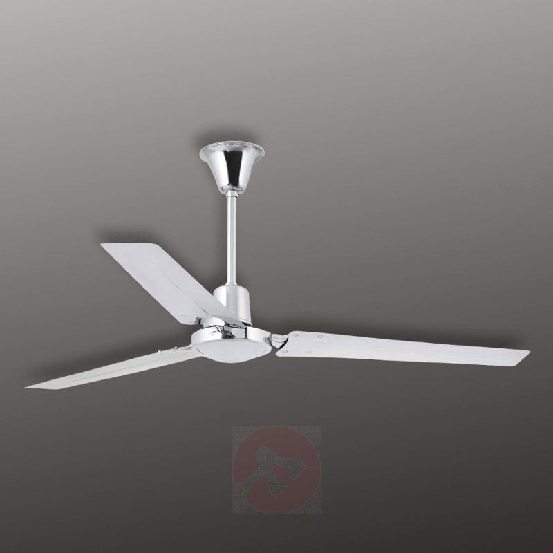 INDUS - modern ceiling fan, chrome - fans