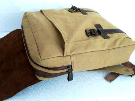 Leather Backpack - Leather Canvas Backpack