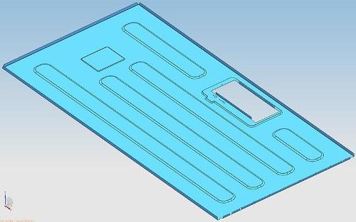 Refrigerator back plate mold - Refrigerator back plate