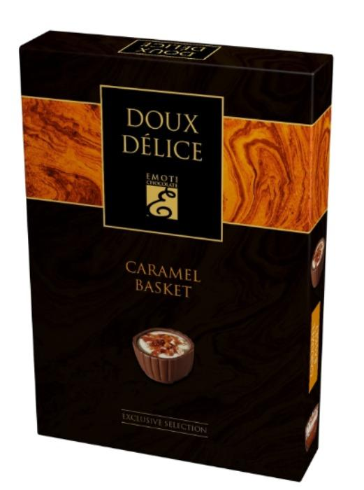 EMOTI Caramel Basket Milk Chocolates, 125g -