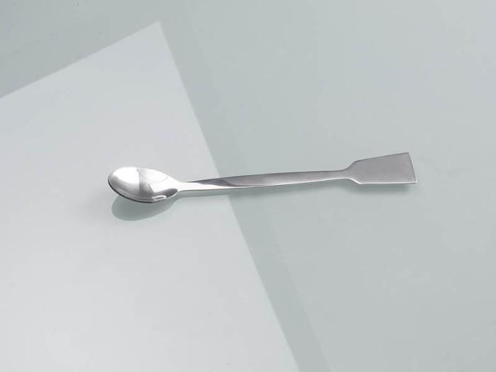 Cuillère avec spatule acier inoxydable - Préleveurs d'échantillons, fournitures pour laboratoire 180 mm et 300