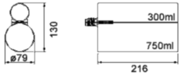 Customized sealant and adhesive applicator - PowerMax HPD-7530-10.8V Li-Ion