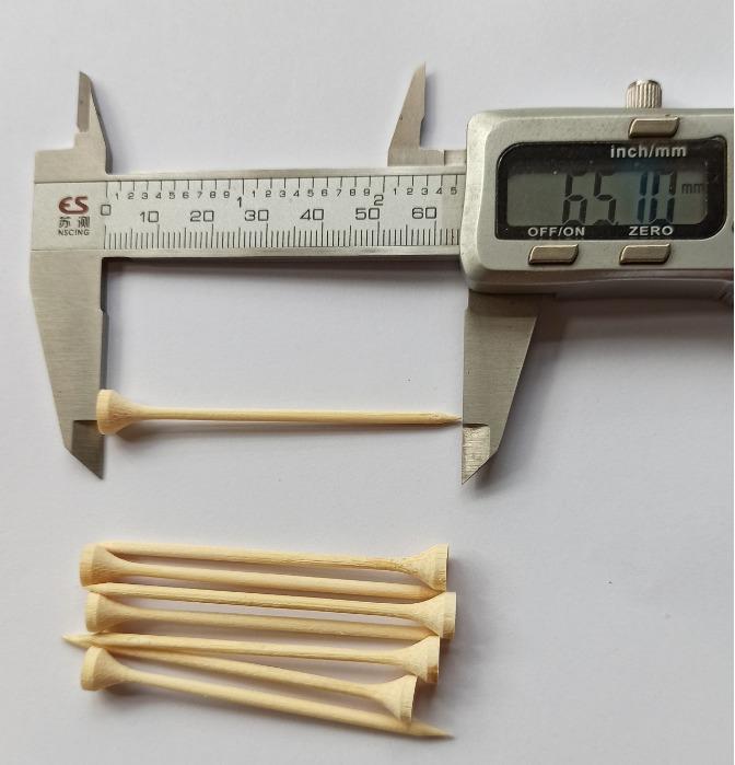 Golf tee picks  - disposable bamboo tee picks for food