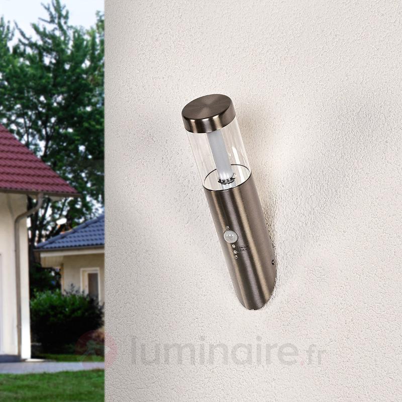 Applique d'extérieur LED oblique Ellie à détecteur - Appliques d'extérieur avec détecteur