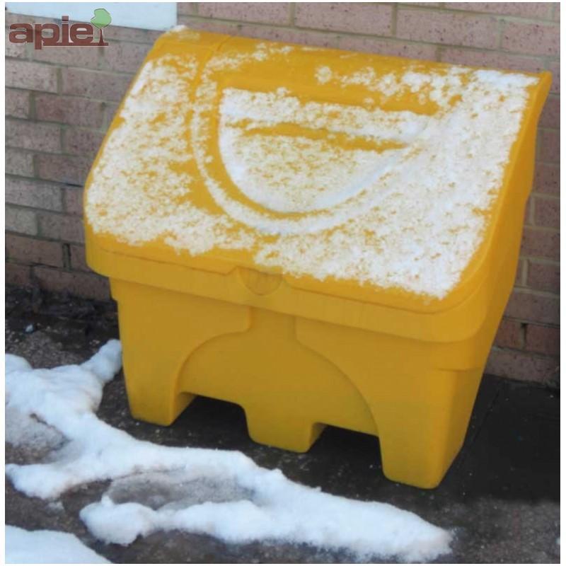 """Coffre à sel ou sable 130L jaune - Equipements """"hiver"""""""