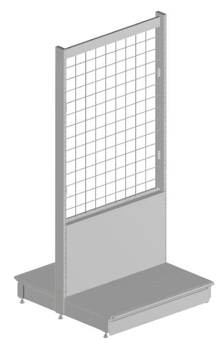 Modular shop rack systems & instore interior shelving design - Slat panels and alternative back panel system + accessories