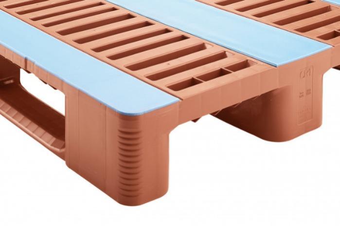 CR1 sin acero - Paleta de plástico, Paleta Euro, Paleta con revestimiento antideslizante