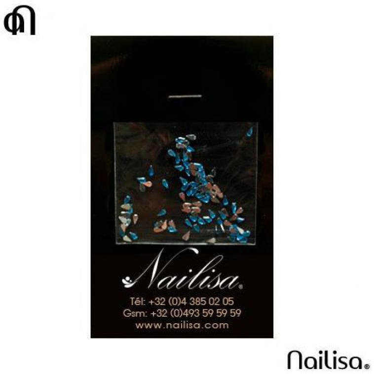Gouttes Turquoise - Décos & Nail Art