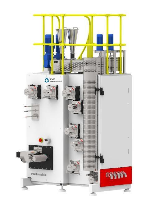 Laborsysteme für das Faserspinnen - Laborsysteme zum Schmelzspinnen von POY-, FDY- und BCF-Fasern