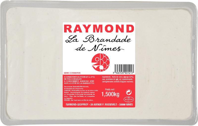 Brandade de Nîmes barquette 1.500kg - Produits de la mer